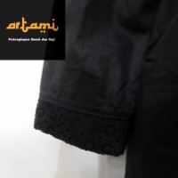 (Sale) Gamis Ihrom Wanita Hitam Bahan Katun Jepang Polos