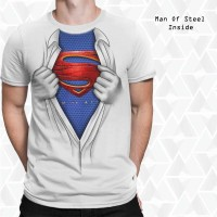Baju 3D Unik Superman Man Of Steel Open Chest Limited Edition