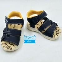 sepatu sendal anak 1 2 3 tahun bunyi size 22-25 motif corak NAVY bagus