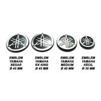 (Spare Part Motor) Emblem Yamaha RX King Diameter 4,5 cm ( sepasang )