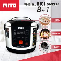 Digital Rice Cooker Mito/mini cooker cocok untuk travelling/kost/mpasi