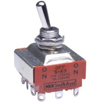 (Murah) Toggle Switch Nikkai S-43 On-Off-On NKK Japan 12pin