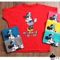 Minnie Mouse Batwing Kaos Cupcake Jumbo Baju Atasan Wanita Bigsize