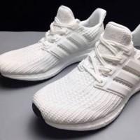 5a2df28a690e4 Adidas Ultra Boost 4 0 Triple White Sepatu Jalan Pria Wanita PREMIU