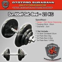 Paket Dumbbell Set 20kg /Dumbel/Dumbell/Dumbbel/Dambel/Barbel/Barbell