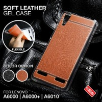 Lenovo A6000 A6010 Plus Soft Leather Case Silikon Sarung Kulit Casing