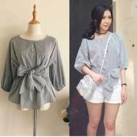 Miyabi blouse - atasan wanita terbaru - fashion korea - outfit korea