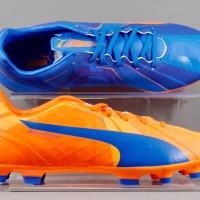 Sepatu Bola Puma Evospeed 4 H2H AG Orange Blue Original