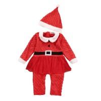 baju romper jumper topi santa natal anak bayi baby cewe perempuan