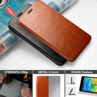 MOFI Soft Leather Flip Case Lenovo K6 Note Flipcase Cover Casing Kulit