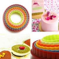 8949- Molds Plastic Cake Mould Biscuit Plunger round fondant cupcake