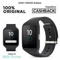 ORIGINAL Sony SWR50 Smartwatch 3 Rubber Strap - Hitam