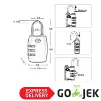 YiFeng Gembok Koper Travel PIN   Password kode angka TSA 335 Seri T19