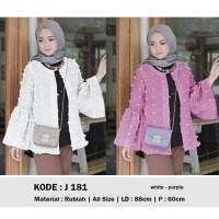 Cardigan wanita/outerwear/white/purple