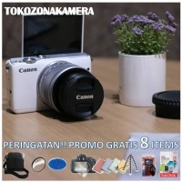 Kamera Canon EOS M10 Kit 15-45mm, Free 8 items