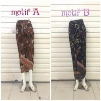 harga Rok Lilit R046 Motif Batik Semi Sutera   Wrap Skirt   Bawahan Kebaya Tokopedia.com