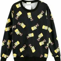 simpsons black sweater