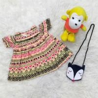 Jual Baju Bayi Perempuan Dress Sabrina Batik Set Tas Rubah Murah