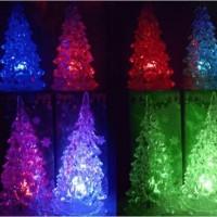 Lampu acrylic / hiasan natal / lampu pohon natal