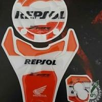 Stiker CBR 150 NEW facelift Tankpad Keypad Fuelpad Motif Repsol
