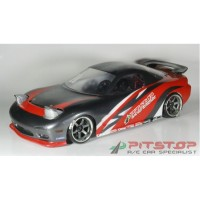 pitstop body rc drift 1/10 mazda rx7