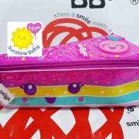 Smiggle Pencil Case Slice of Rainbow Cake Pink Ori