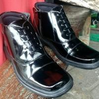 Sepatu Pantofel PDH Tni Polri Kulit Kilap untuk Dinas Kerja Kantor|PDL