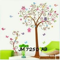Motif Pohon & Burung Hantu Wallpaper Wallsticker uk 2 x 60 x 90 cm