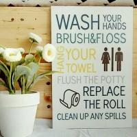 Hiasan Dinding Kamar Mandi Lukisan Stiker Vinyl Doff Wash Your Hand