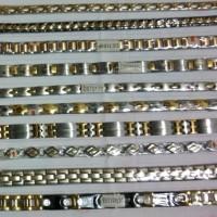 Gelang MAGNET KESEHATAN DYMIUM campuran warna emas TERMURAH