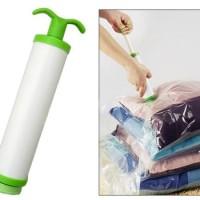 Pompa Tangan Vacuum Bag Manual Hand Pump Kantong Vakum Plastik Hijau