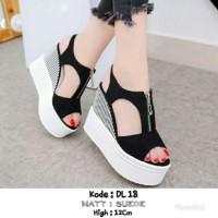 harga Sepatu Wanita Cantik Terbaru Dan Termurah Dl 18   Bahan  Suede 12cm Tokopedia.com