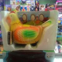 mainan anak BO ayam bertelur ada suara dan lampu
