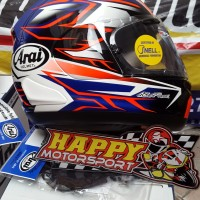Helm ARAI FUll Full Face RX-7X Ghoes Blue Red  Made in Japan M L  & XL