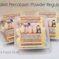 Bubuk Powder Drink Reguler 12 Rasa Plus Jelly Cincau-Paket Coba Bubble