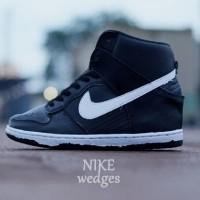 Terbaru Sepatu Nike Air Wedges Hitam List Putih Size 37-40 NMZs:007401