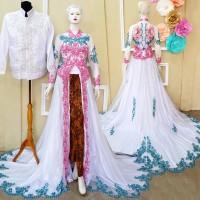 Harga couple murah baju pengantin modern kebaya pernikahan ekor | Pembandingharga.com