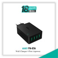 Jual Aukey PA-U36 Wall Charger 4 Port USB 18 W Turbo Wall Charger  Murah