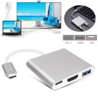 Kabel converter USB Type C to HDMI + TypeC +USB 3.0 Adapter Cable