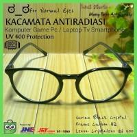 Kacamata Normal Bulat Antiradiasi Hp/Komputer/Gaming/Game/Anti radiasi