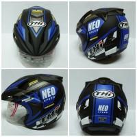 Helm Half Face Thi Rookie Neo Blue Black Doff Helm Sni Murah Terlaris