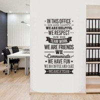 Cutting Sticker Quote In This Office 1 Stiker Kantor Rumah Kamar