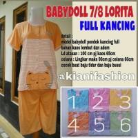 Baju Hamil/ Babydoll menyusui lorita | baju tidur full kancing