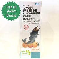 FISH LIVER OIL EMULSION Tunghai rasa Jeruk 500ml