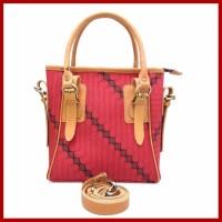 Tas Wanita, Swagger  Hand Bag SW08, Tas Kulit Wanita Asli Motif Batik