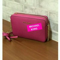 TAS MICHAEL KORS FULTON Large CROSSBODY RASPBERRY ORIGINAL
