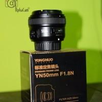 premium Lensa Yongnuo fix 50mm f1 8 untuk Nikon