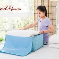BEST SELLER!!! 3 in 1 Cloth Organizer COKLAT POLKA (1 set isi 3 pcs