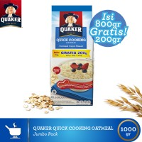 harga Quaker Quick Cooking Oatmeal Large Pack (qcor800n-9556174802205) Tokopedia.com