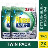harga Rinso Matic Deterjen Bubuk Bukaan Atas 1kg - Twin Pack Tokopedia.com